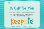 A Gift Certificate The Keepsie Pack